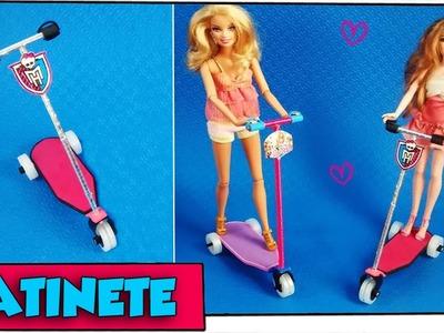 Como fazer: Patinete para bonecas Barbie, Monster High, EAH entre outras!