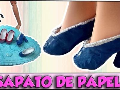 Como fazer: Sapato de salto (com papel) para Barbie, Monster High e outras!