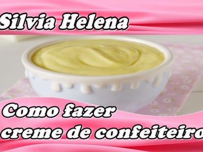 Creme de confeiteiro profissional base para vários recheios de bolo - POR SILVIA HELENA