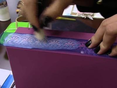 DIY | Faça Você Mesmo | Caixa Vintage Pátina com Rosas Pt. 1 | Livia Fiorelli | LiFe Artesanato