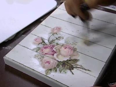 DIY | Faça Você Mesmo | Caixa Vintage Pátina com Rosas Pt. 2 | Livia Fiorelli | LiFe Artesanato