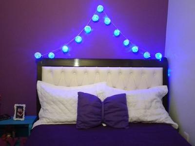 DIY - Luzes com bolinhas | Decoração para o quarto!!!