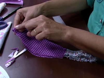 Mulher.com 08.05.2015 Edileny Gomes - Touca cozinheiro em tecido Parte 2.2
