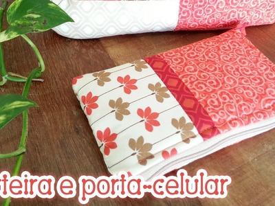 Patchwork Ao Vivo #46: carteira e porta-celular em patchwork