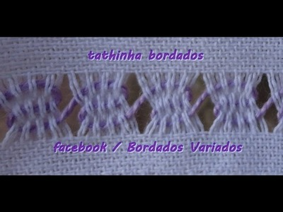 Tathinha Bordados #07 - BAINHA ABERTA ONDA - BORDADO