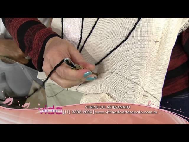 Aprenda a fazer tapeçaria com agulha mágica
