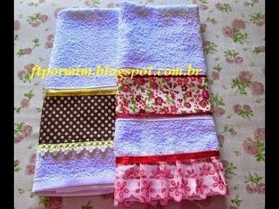 Aprenda à Fazer uma toalhinha com barra de tecido