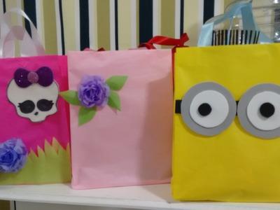 Aula 20 - Como fazer bolsas de papel de seda - Muito baratas e resistentes!