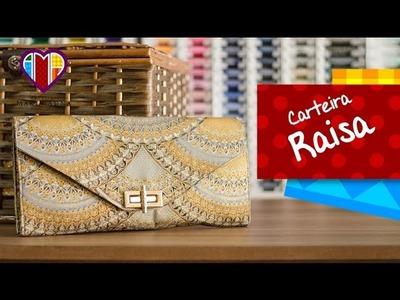 Bolsa carteira de tecido Raisa - Maria Adna Ateliê - Cursos e aulas de bolsas e carteiras de tecido