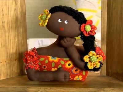 Boneca de Pano - PASSO A PASSO - Mabel