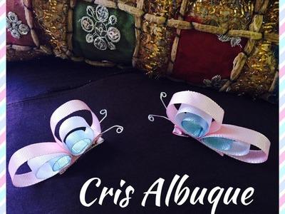 Borboleta de fita no bico de pato - Pap com Cris Albuque