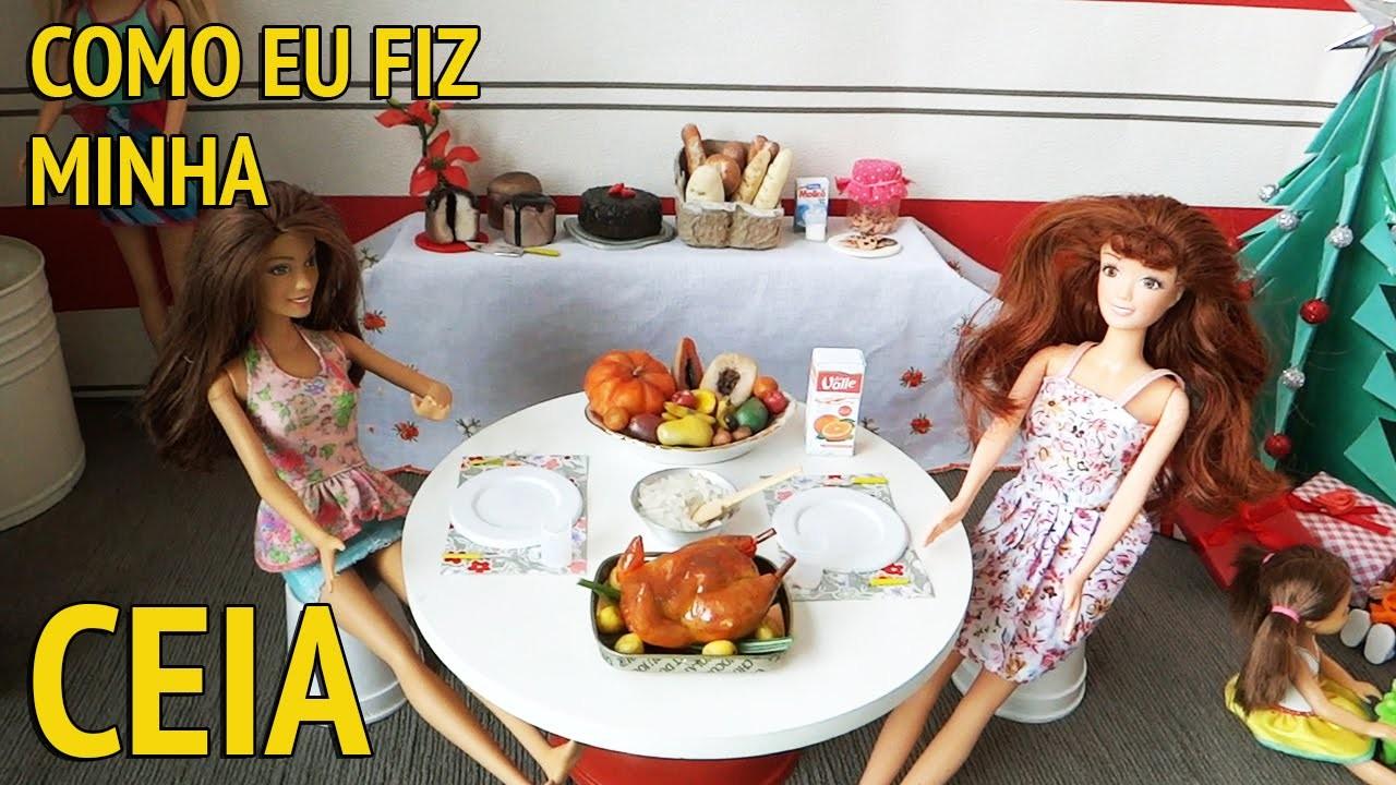 Ceia de Natal da Barbie e outras bonecas - Como eu fiz?
