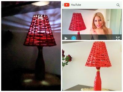 Como fazer abajur com jornal Paper lamp with