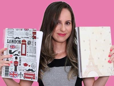 Como Fazer Customização de Cadernos - Artesanato Volta às Aulas