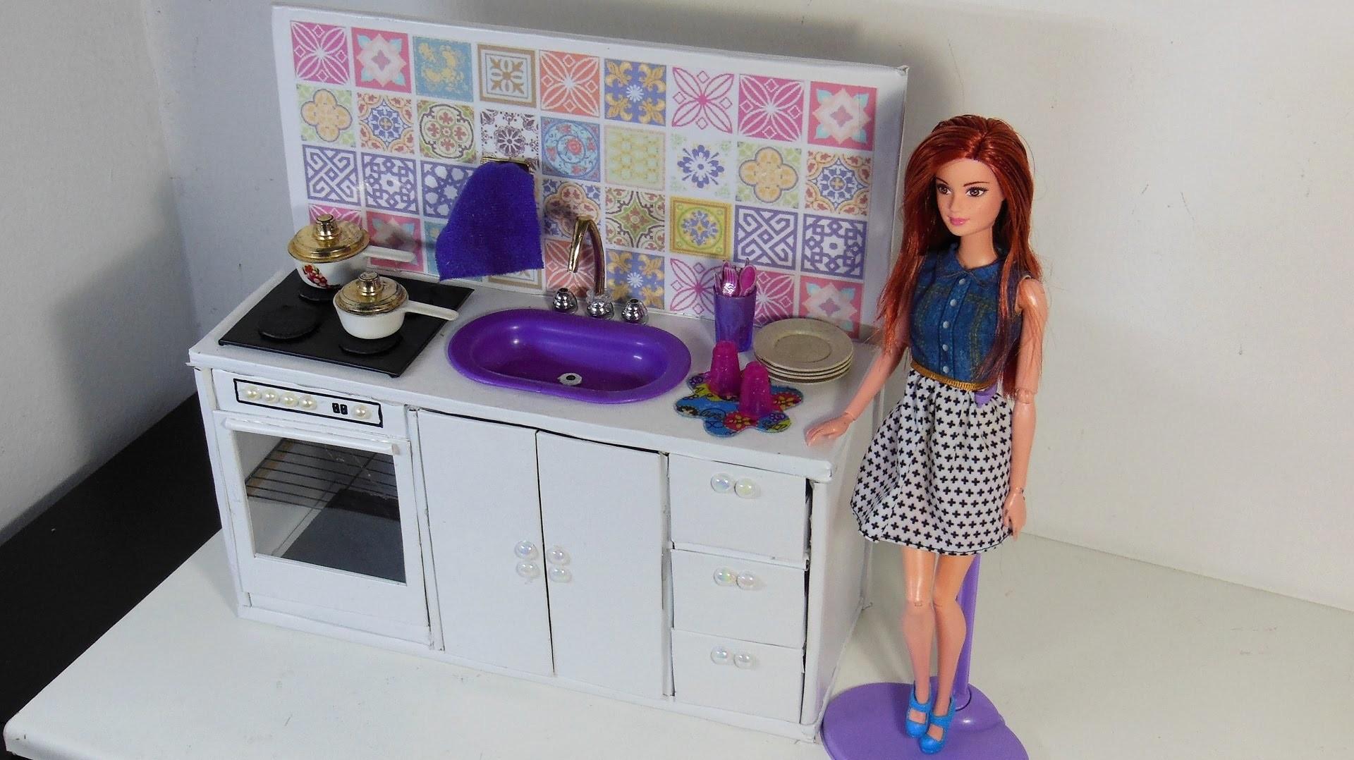 Como Fazer Fogao Pia E Armario Para Cozinha Da Barbie E Outras