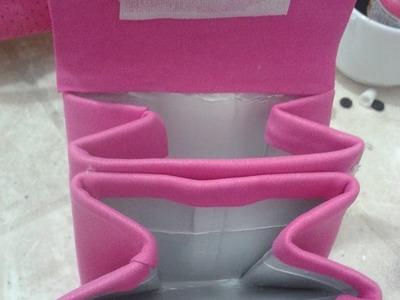 Como fazer lembrancinha de aniversario , Porta Moedas em EVa usando caixa de leite