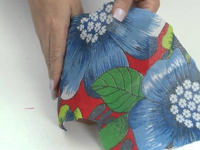Decoração de vaso com tecido