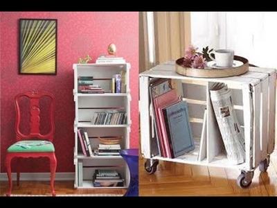 Dicas para fazer estante e rack com caixote de feira