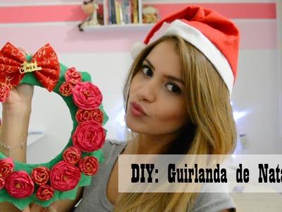 DIY: Guirlanda de Natal || Flores de Papel Crepom || Christmas Garland Crêpe Paper