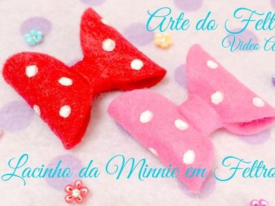 Lacinho da Minnie em Feltro ( By Arte do Feltro)