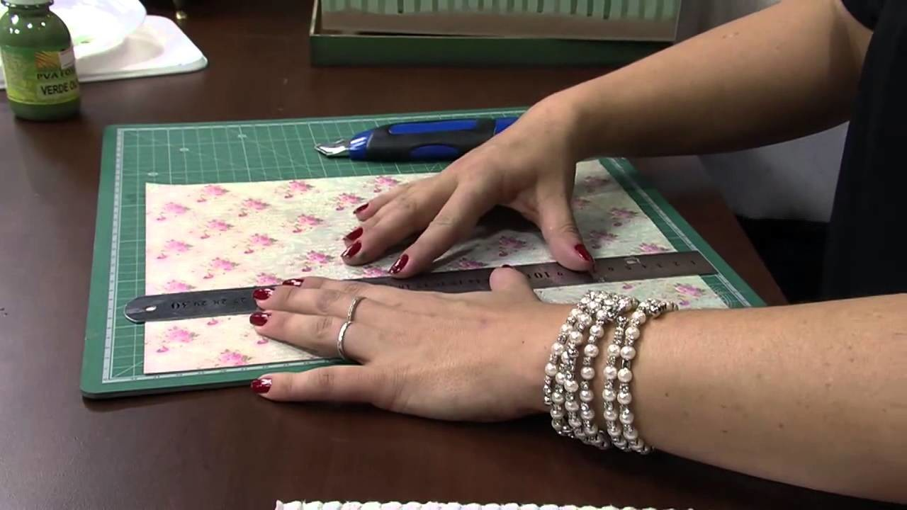 Mulher.com 13.12.2013 Marisa Magalhães - Caixa com decoupage Parte 1.2