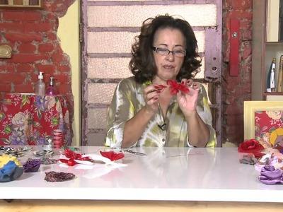 Mulher.com 20.01.2014 Marcia Silva - Flor Porta Guardanapo de Organza