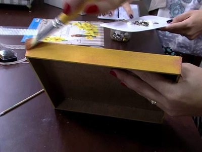 Mulher.com 22.05.2015 Marisa Magalhães - Caixa com patina Parte 2.2