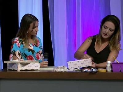 Mulher.com 23.01.2015 - Caixa com scrap decor por Marisa Magalhães - Parte 1