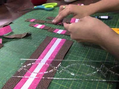 Mulher.com 30.04.2013 Camila Martins - Patchwork seminole toalha  Parte 1.2