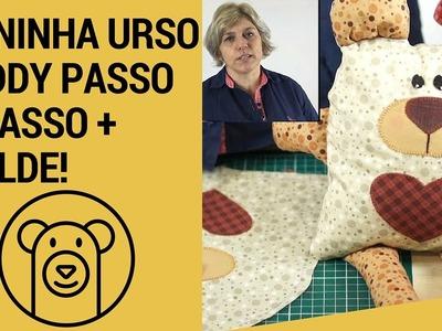 Naninha Urso Teddy Com Zipper e Molde Aula Passo a Passo