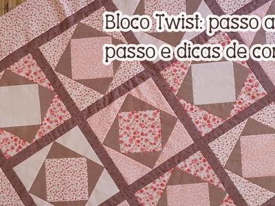 Patchwork Ao Vivo #52: como aproveitar seus tecidos + manta com bloco Twist