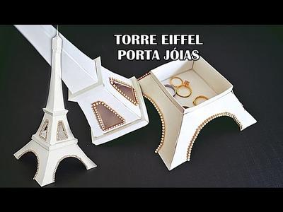 Presente Criativo Torre Eiffel (Porta Jóias) como fazer - artesanato Elton Donadon