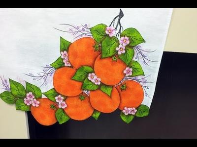 Programa Arte Brasil - 28.04.2015 - Márcia Caires - Pano de Copa Motivo Ramo de Laranjeira