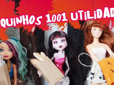 Saquinho multiúso (compras, pão, doces, brindes) para Barbie, MH, EAH - Como fazer?