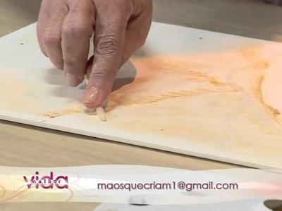 Vida Melhor   Artesanato Marmorizado com Esponja com Maria Luiza