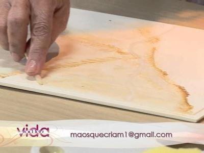 Vida Melhor - Artesanato: Marmorizado com Esponja com Maria Luiza