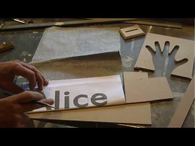 Artesanato como recortar letras em mdf