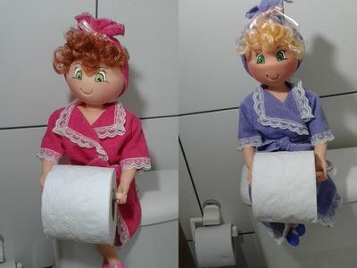 Boneca porta papel higiênico biscuit - Parte 2