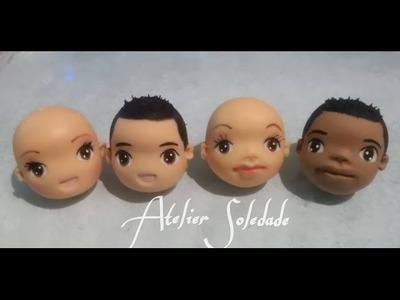 Como fazer cabelos masculinos com tupete em biscuit  - Katia Soledade