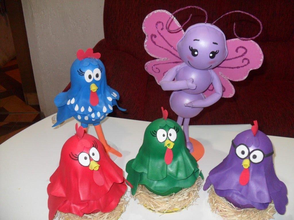 Como fazer galinha pintadinha para decoração de festa