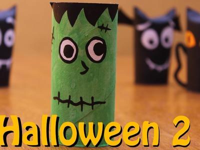 Como fazer monstro Frankenstein de papel - Halloween - Dia das Bruxas com sucata 2