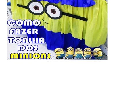 COMO FAZER TOALHA DOS MINIONS #EspecialMilInscritos #3
