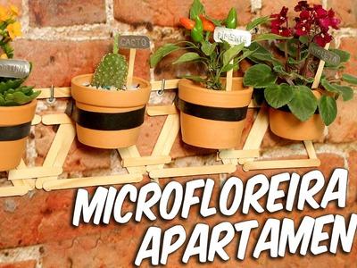 Como fazer uma microfloreira de apartamento