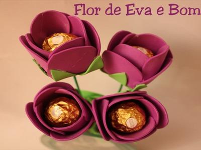Flor de Eva com bombom - Boa dica para presente