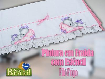 Programa Arte Brasil - 19.01.2015 - Filó Frigo - Pintura em Fralda com Estêncil