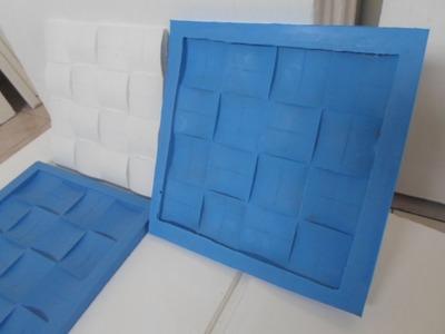 Aprenda a fazer formas decorativas 3D p.  gesso.