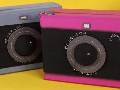 Artesanato Caixinha em Forma de Câmera Fotográfica DIY Como Fazer