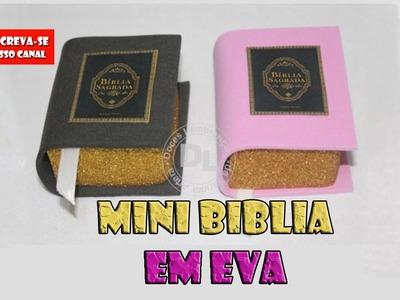 Como fazer lembrancinha mini biblia em eva