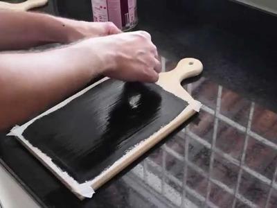 Como fazer lousas decorativas utilizando tábuas de carne