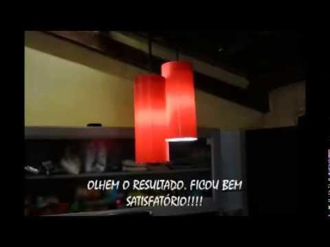 Luminária com Cano de PVC